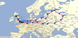 Moscow to Moscow (actual itinerary)